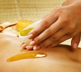 Wellness mézes bőrtápláló masszázs